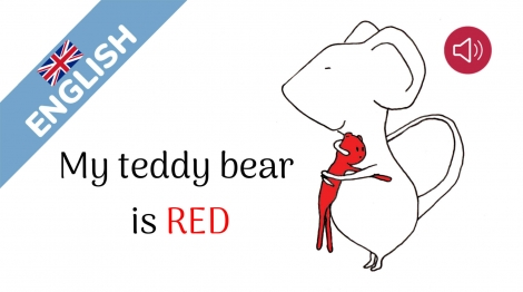 My teddy bear is red
