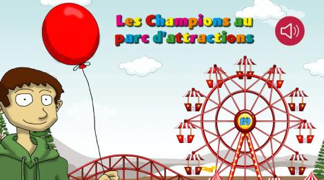 Les champions au parc d'attractions