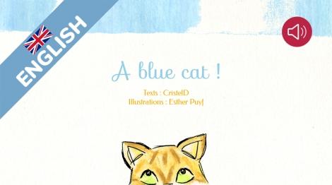 A blue cat!