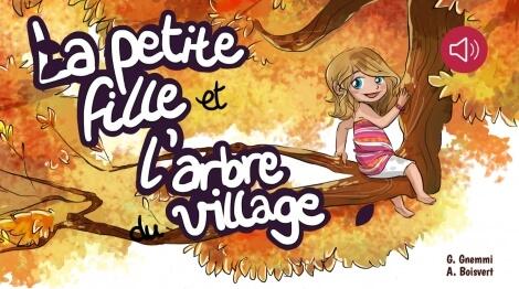 La petite fille et l'arbre du village
