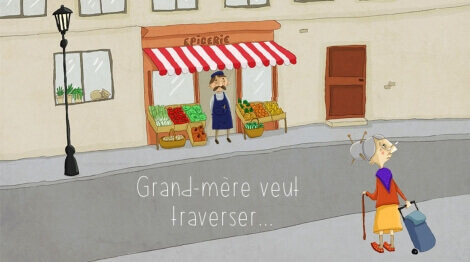 Grand-mère veut traverser