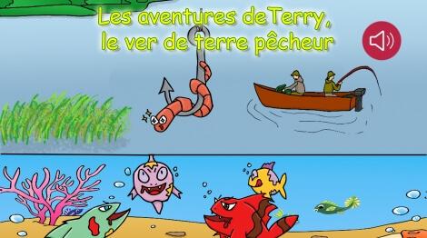 Terry le ver de terre pêcheur