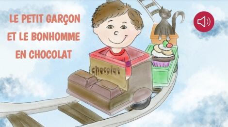 Le petit garçon et le bonhomme en chocolat