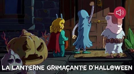 La lanterne grimaçante d'Halloween